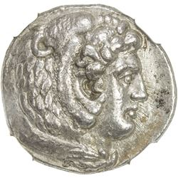 MACEDONIAN KINGDOM: Alexander III, the Great, 336-323, AR tetradrachm, Arados. NGC EF