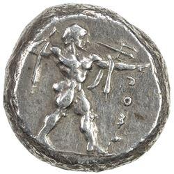 POSEIDONIA: AR didrachm (nomos) (8.13g), ca. 480-430 BC. VF