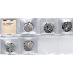 SELEUKID KINGDOM: LOT of 5 silver tetradrachms