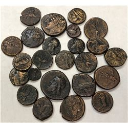 SYRACUSE: LOT of 24 bronze coins of various rulers