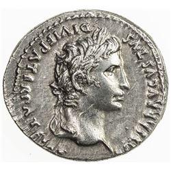 ROMAN EMPIRE: Augustus, 27 BC-14 AD, AR denarius (3.74g), Lugdunum. EF