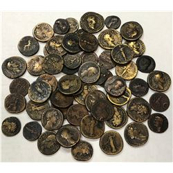 ROMAN EMPIRE: LOT of 57 bronze imperial coins from the first to the second century AD