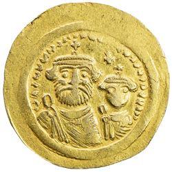 BYZANTINE EMPIRE: Heraclius, 610-641, AV solidus (3.70g). VF-EF