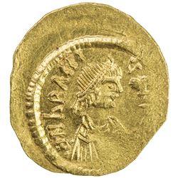 BYZANTINE EMPIRE: Heraclius, 610-641, AV tremissis (1.46g), Constantinople. EF