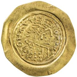 LOMBARDS: uncertain king, ca 7th century, AV tremissis (1.28g). EF