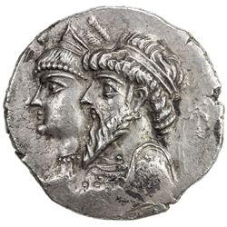 ELYMAIS: Kamnaskires III & Queen Anzaze, ca. 82-73 BC, AR tetradrachm (16.01g), Seleukia on the Hedy