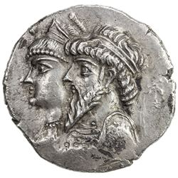 ELYMAIS: Kamnaskires III & Queen Anzaze, ca. 82-73 BC, AR tetradrachm (16.01g), Seleukia on the Hedy
