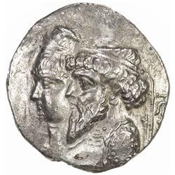 ELYMAIS: Kamnaskires III & Queen Anzaze, ca. 82-72 BC, AR tetradrachm (14.59g), ND. VF-EF