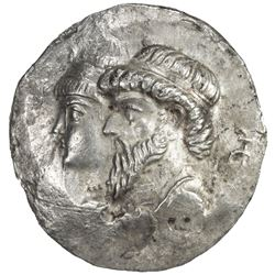 ELYMAIS: Kamnaskires III & Queen Anzaze, ca. 82-72 BC, AR tetradrachm (15.77g). VF