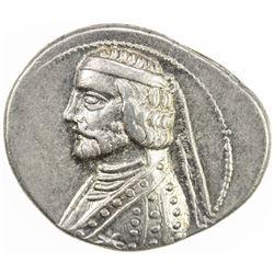 PARTHIAN KINGDOM: Phraates III, c. 70-57 BC, AR drachm (4.09g), Rhagae. EF