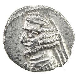 PARTHIAN KINGDOM: Orodes II, c. 57-38 BC, AR obol (0.61g). VF-EF