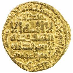 FATIMID: al-Mahdi, 909-934, AV dinar (3.95g), al-Qayrawan, AH303. VF