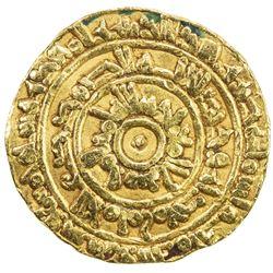 FATIMID: al-Mu'izz, 953-975, AV 1/2 dinar (4.17g), al-Mahdiya, AH365. F-VF