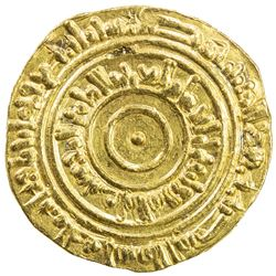 FATIMID: al-'Aziz, 975-996, AV dinar (4.16g), Misr, AH384. EF
