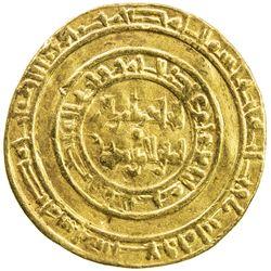 FATIMID: al-Hakim, 996-1021, AV dinar (4.21g), Misr, AH389. VF