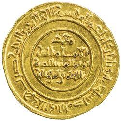 FATIMID: al-Mustansir, 1036-1094, AV dinar (4.30g), Misr, AH438. AU