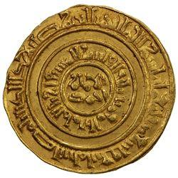 FATIMID: al-Musta'li, 1094-1101, AV dinar (4.28g), Misr, AH494. AU