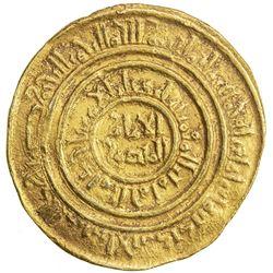 FATIMID: al-Amir al-Mansur, 1101-1130, AV dinar (4.39g), al-Iskandariya, AH502. VF