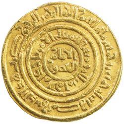 FATIMID: al-Amir al-Mansur, 1101-1130, AV dinar (4.30g), Misr, AH505. VF