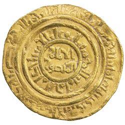 FATIMID: al-Amir al-Mansur, 1101-1130, AV dinar (3.94g), al-Iskandariya, AH506. VF