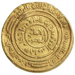 FATIMID: al-Amir al-Mansur, 1101-1130, AV dinar (4.17g), Misr, AH510. VF
