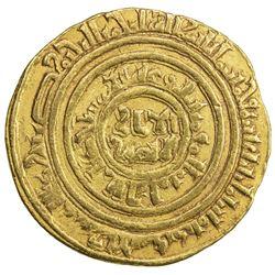 FATIMID: al-Amir al-Mansur, 1101-1130, AV dinar (4.41g), al-Iskandariya, AH512. VF