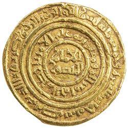 FATIMID: al-Amir al-Mansur, 1101-1130, AV dinar (4.17g), Misr, AH515. VF