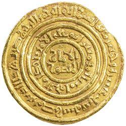 FATIMID: al-Amir al-Mansur, 1101-1130, AV dinar (4.24g), Misr, AH516. VF