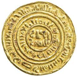FATIMID: al-Amir al-Mansur, 1101-1130, AV bezant (3.76g). EF-AU