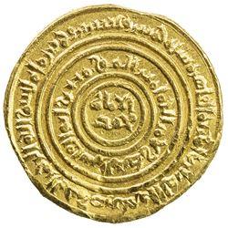 FATIMID: Interregnum, 1130-1131, AV dinar (3.99g), al-Mu'izziya al-Qahira (Cairo), AH525. EF