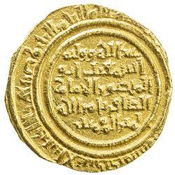 FATIMID: al-Zafir, 1149-1154, AV dinar (4.05g), al-Iskandariya, DM. EF-AU