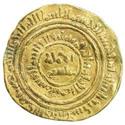 FATIMID: al-Fa'iz 'Isa, 1154-1160, AV dinar (4.23g), al-Iskandariya, AH552. VF