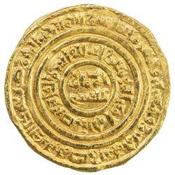 FATIMID: al-Fa'iz 'Isa, 1154-1160, AV dinar (4.36g), al-Iskandariya, AH555. VF-EF