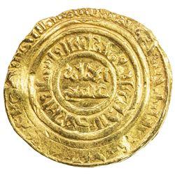 FATIMID: al-Fa'iz 'Isa, 1154-1160, AV dinar (4.76g), Misr, AH555. VF