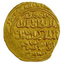 BAHRI MAMLUK: Baybars II, 1309-1310, AV dinar (4.61g), al-Qahira, DM. EF