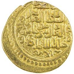 ILKHAN: Musa Khan, 1336-1337, AV dinar (8.28g) (Tabriz), AH736. VF