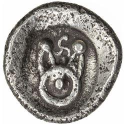 KUNTALA: Punchmarked, ca. 600-450 BC, AR 1/2 shatamana (6.33g). VF