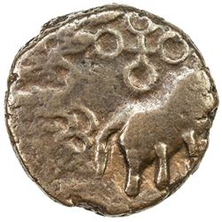 CENTRAL INDIA: Anonymous, 1st century BC, AE round (2.86g). VF