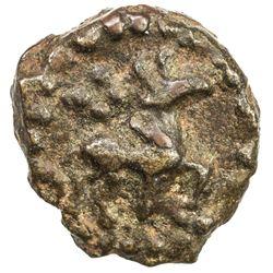 KAUSAMBI: Anonymous, 2nd century BC, cast AE round (1.12g). EF