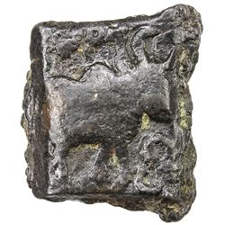 NORTHERN INDIA: Anonymous, 1st century BC, AE square (1.47g). VF-EF