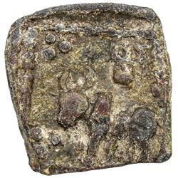 SATAVAHANA: Anonymous, 2nd century BC, lead round (1.98g). VF