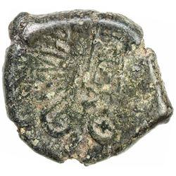 SATAVAHANA: Satakarni, 1st century BC, AE unit (10.33g). F-VF