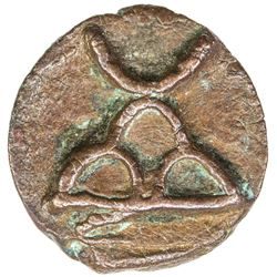 TAXILA: Anonymous, 2nd/1st century BC, AE round (1.14g). EF