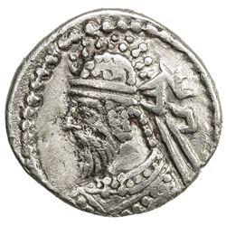 LATER INDO-PARTHIAN: Sanabares, ca. 135-160, AR drachm (2.23g). VF