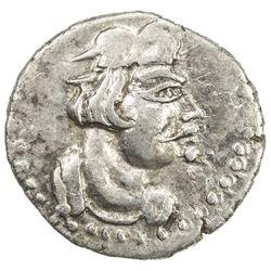 KUSHAN: Heraios, the Kushan, ca. 1-30 AD, AR obol (0.47g). VF