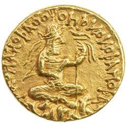 KUSHAN: Huvishka, ca. 155-187, AV dinar (7.97g). VF-EF