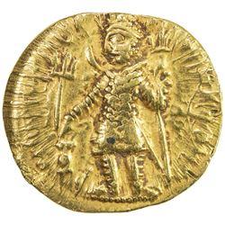 KUSHAN: Vasu Deva I, ca. 191-230+, AV dinar (7.92g). VF-EF