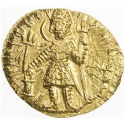 KUSHAN: Vasu Deva I, ca. 191-230+, AV dinar (8.01g). AU