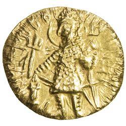 KUSHAN: Vasu Deva I, ca. 191-230+, AV dinar (8.00g). AU
