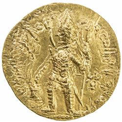 KUSHAN: Vasu Deva I, ca. 191-230+, AV dinar (8.02g). AU
